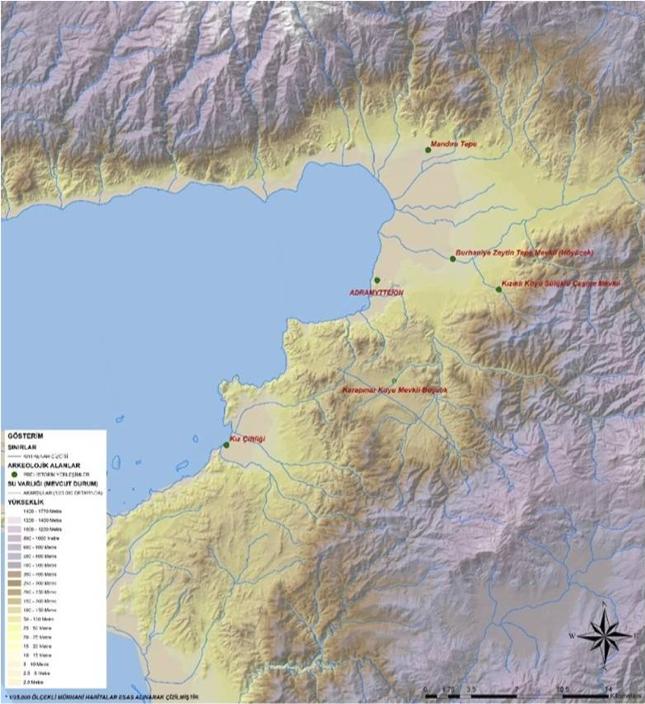 Resim 13: Prehistorik Dönem Alanlarına Ait Harita