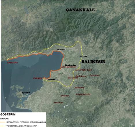 Resim 14: Adramytteion Etki Alanı ve Güney Sahası'nın Kale Yerleşimleri