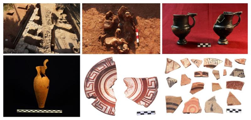 Resim 7: A Bölgesi, Bizans Dönemi Depolar, Helenistik Dönem Buluntuları ve Arkaik Dönem Keramikleri