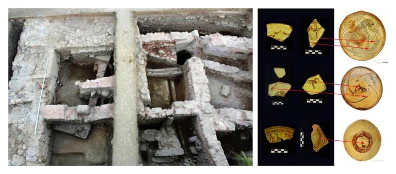 Resim 8: D Bölgesi, Bizans Dönemi Konutları ve Günlük Kullanım Kapları